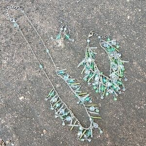 3/$15 green, pale blue Jewelry set
